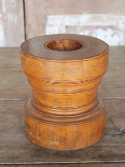 Antique Satinwood Mortar, Kerala, South India
